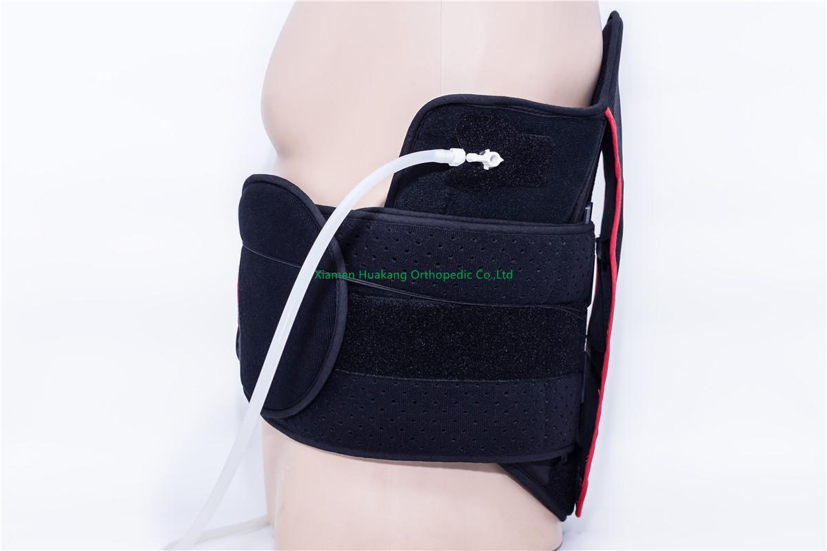 inflate and deflate spine back strap supports