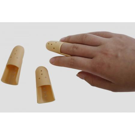 Orthotic plastic stack finger supports braces