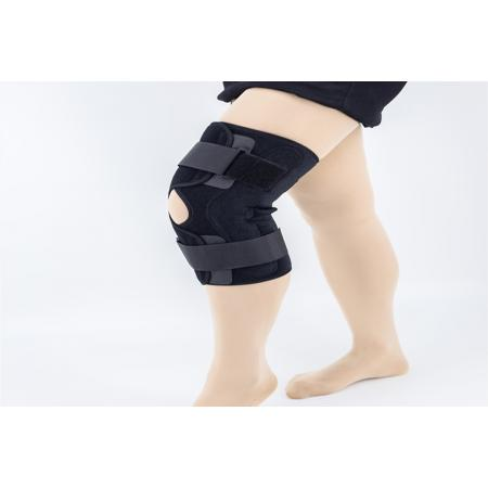 Aluminum HINGED leg Knee immobilizer supports